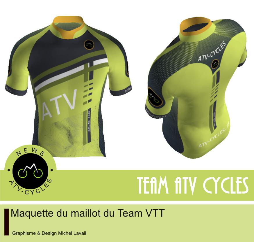 Maquette maillot VTT du Team ATV-CYCLES